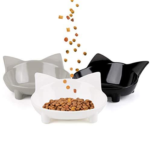 Legendog Cat Bowl,Anti-Slip Cat Feeding Bowl /Cat Bowl White/ Cat Water Bowl , Multi-purpose Double Pet Feeding Bowl