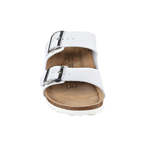 JOE N JOYCE Unisex London Nappa Soft Fußbett Sandalen White Größe 46 EU Normal