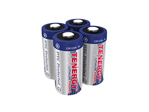 Tenergy Propel 3V CR123A Lithium Battery, High Performance 1500mAh CR123A Cell Batteries PTC Protected for Cameras