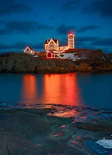 - Christmas at the Nubble Lighthouse, York, Maine 3 8x10 Color Photograph