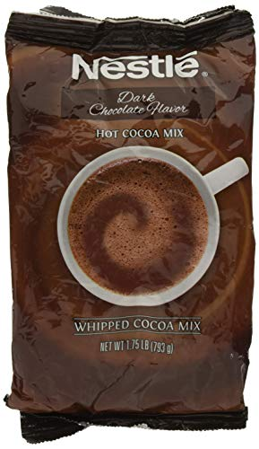 Nestle Hot Chocolate Mix, Hot Cocoa, Dark Chocolate Flavor Flavor, Whipped Cocoa, 1.75 lb. Bag
