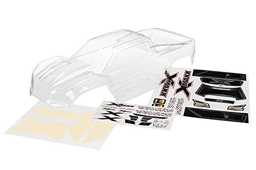 - Traxxas 7711 Clear X-Maxx Body with Decal Sheet