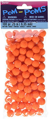 Pom Poms .25 100/Pkg-Orange