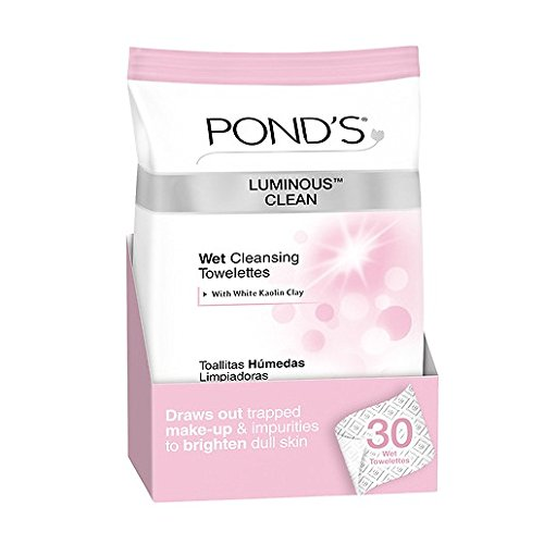 Pond's Luminous Clean Moisture Clean Towelettes With Cold Cream Technology 28 Each ( Pack of 2)