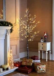 jaymark 7ft christmas twig tree pre lit with 120 led warm white