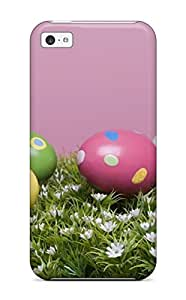 Premium MiBNRlN4747odYIe Case With Scratch-resistant/ Happy Colorful Easter Eggs Case Cover For Iphone 5c