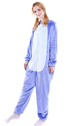 Dolamen Natale Party Donna Onesie Attrezzatura Sleepwear Uomo Kigurumi Anime Adulto Cosplay Stitch Unisex Pigiama Costume Halloween rgrvq