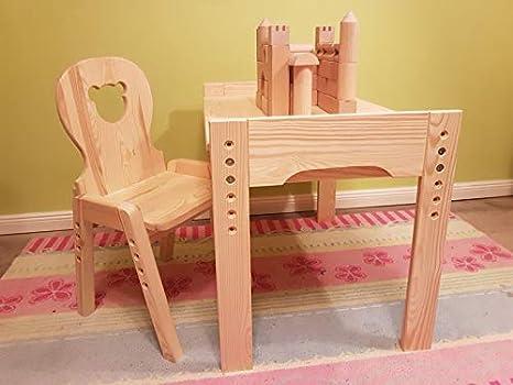 mitwachs Extremo Lätt oso. 1 mesa y 1 silla madera maciza sin ...