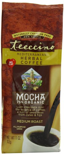 Teeccino Herbal Coffee, Mediterranean Mocha, 11 Ounce (Pack of 3)