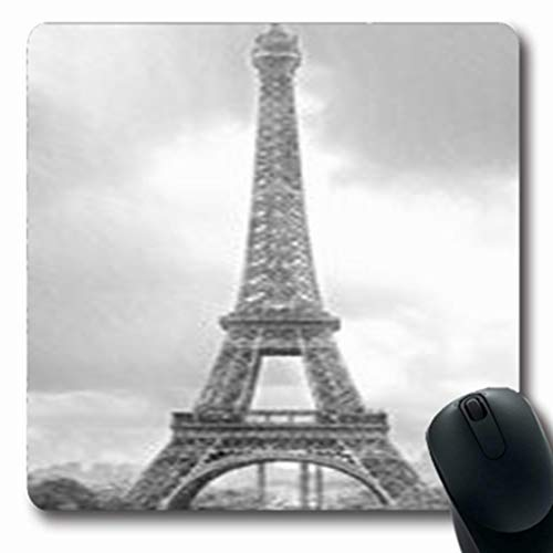 NOWCustom Oblong Mousepads High Eiffel Tower Famous Paris France Digital Graphic Oblong Shape 7.9 x 9.5 Inches Non-Slip Rubber Mousepad Gaming Mouse Pad ()