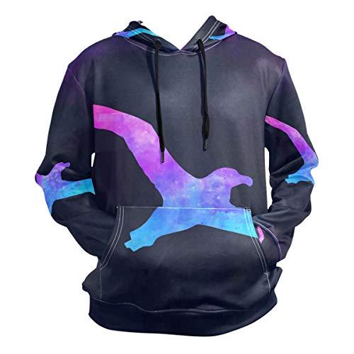 Unisex 3D Albatross Bird Print Hoodies Sweatshirts Long-Sleeved Pullover with Pocket M