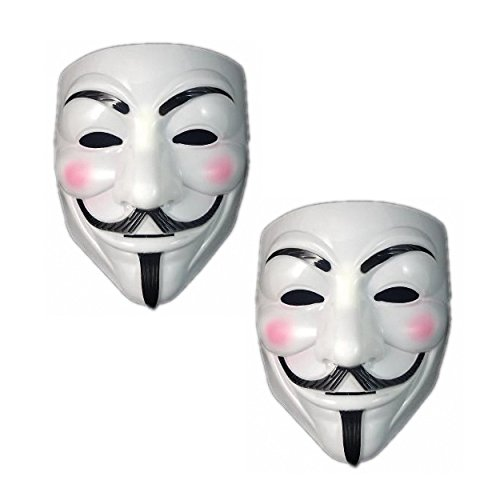 Double Halloween Party Guy Fawkes V FOR Vendetta Anonymous Adult Mask ()