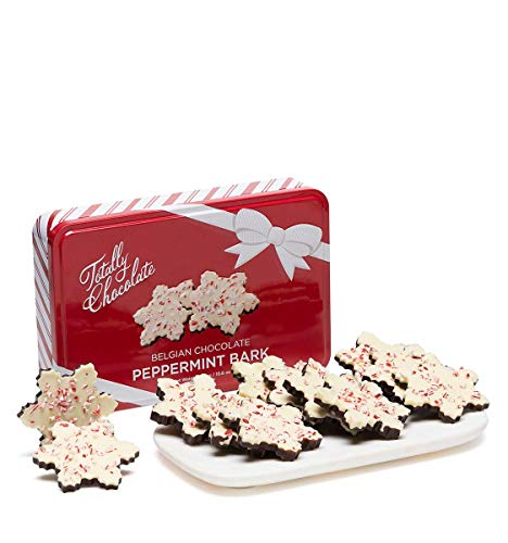 Peppermint Bark Snowflakes 12-Piece Set Holiday Gift Tin ()