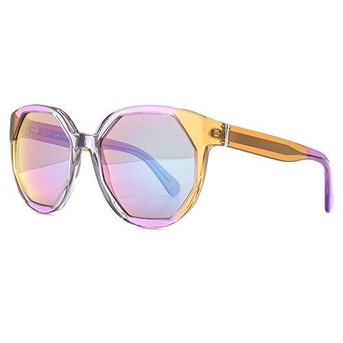 Marc Jacobs pointe des lunettes de soleil géométrique en cristal gris brun rose MJ 585/S AP2 55 Mix - Violet