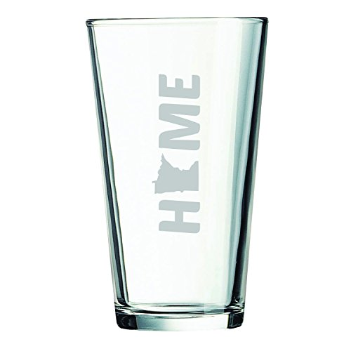 Minnesota-State Outline-Home-16 oz. Pint Glass (Mn Beer Glass compare prices)