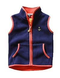 FOURSTEEDS Girls Fleece Stand Collar Vest Warm Winter Sleeveless Jacket Zipper Up Waistcoat