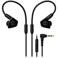 Audio-Technica ATH-LS50iSBK In-Ear Monitor Headphones with In-Line Mic & Control, Black