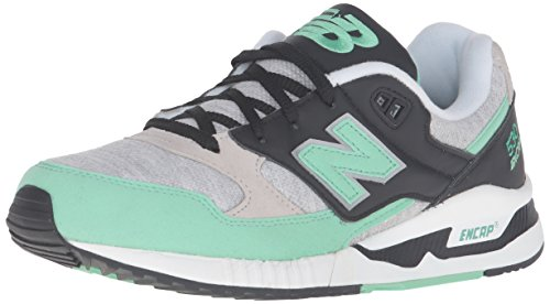 New Balance Womens W530 Classic Running Fashion Sneaker Grey/Green/Black r0O6p5