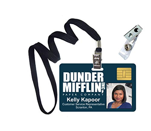 Kelly Kapoor The Office Novelty ID Badge Film Prop for Costume and Cosplay • Halloween and Party Accessories