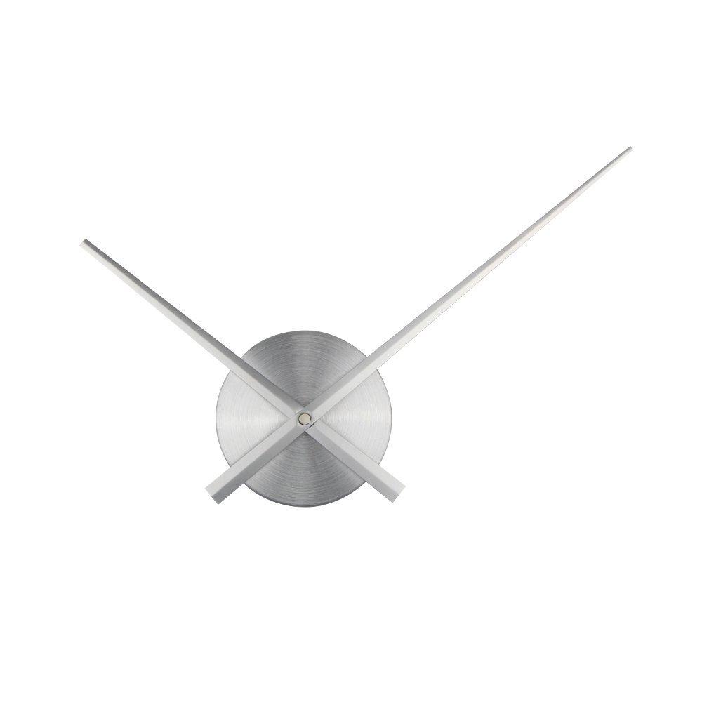 3D時計の手、Timelike DIYの大きな時計針針の壁時計3Dホームアートの装飾石英時計のメカニズムアクセサリー (銀) B01N1QEN9A銀