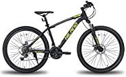 Hiland 26/27.5 Inch Mountain Bike Shimano 21Speed MTB Bicycle with Suspension Fork,Dual-Disc Brake,Fenders Urb