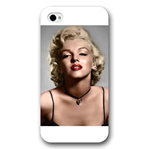 UniqueBox - Customized White Frosted iPhone 4/4s Case, Marilyn Monroe iPhone 4s case, Marilyn Monroe iPhone 4 case