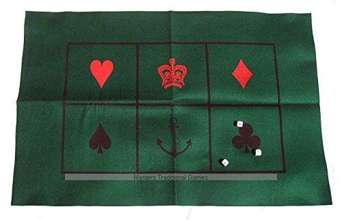 [Crown and Anchor / chuck-a-luck - Baize Mat & Dice Set] (Luck Dice)