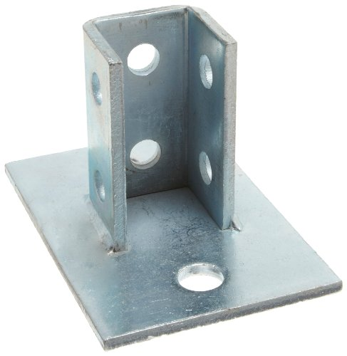 "Morris Products 17450 Post Base Single Channel, 2 Hole, Standard, 3-1/2"" Channel"