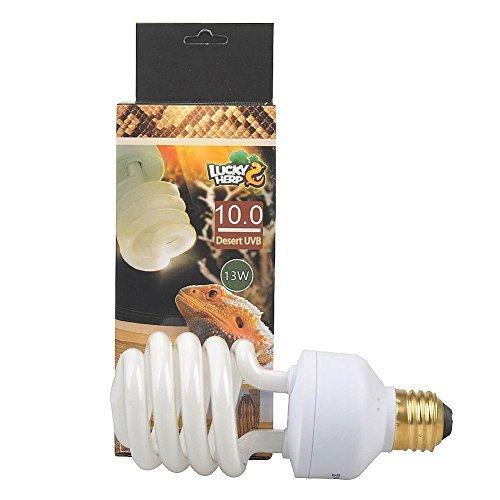 (LUCKY HERP 10.0 UVB Fluorescent Desert Terrarium Lamp,Reptile UB Bulb Light,Compact Bulb (13 Watt))