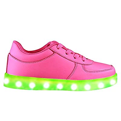 Topteck Summer 7 Colors LED Shoes USB Charging Light Colorful Glowing Leisure Flat Shoes for Kid and Adult