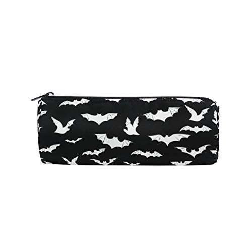 Pencil Case Bats Halloween Goth Pen Bag- ChunBB Stationery Pouch Makeup Cosmetic Holder for School Office]()