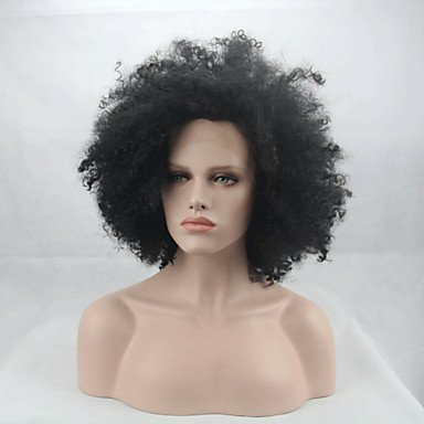 hjl de manera synthetische pelucas cordones se frontal pelucas Afro complicado Negra Resistente Al Calor pelo