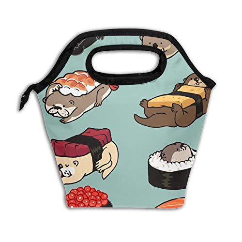 - Lao Yang Mai Sea Otter Cute Japanese Best Sushi Rice Roller School Lunch Containers Bag Pail Pack Accessories Tote Ice Cooler Insulated Reusable Box Hot Food Bento Warmer Prep Set Kit Decorations