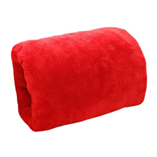 USB Hand Warmer Handwarmer Pocket Waterless Warm Hand Tools Soft Pillow Red