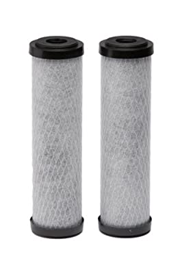 EcoPure EPW2C Carbon Whole Home Replacement Water Filter - Universal Fit - Fits Most Major Brand Systems (2 pack)