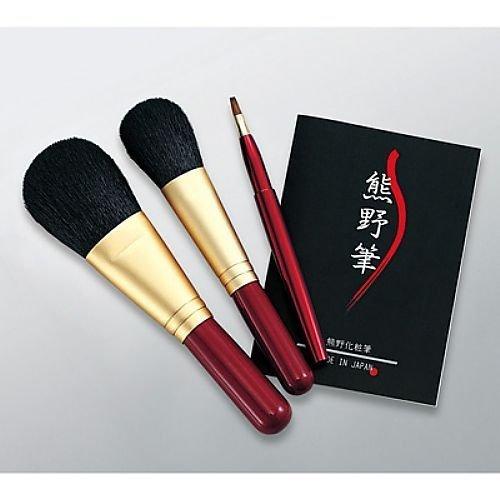 (Kumano brush / made in Japan) Kumano makeup brush set brush of mind