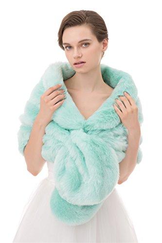 Insun Soprabito Giacche Pelliccia Verde Donna Scialle Sintetica Cappotti Mantelle Mantelli Poncho B8rBqZw1n