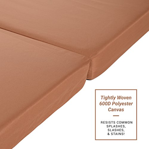 Milliard Ruggedized Foam Outdoor Sleeping Pad | 3-Inch Tri-Folding Camp Mattress with Splash & Slash-Resistant Removable Cover - 31'' Cot Size Width by Milliard (Image #3)