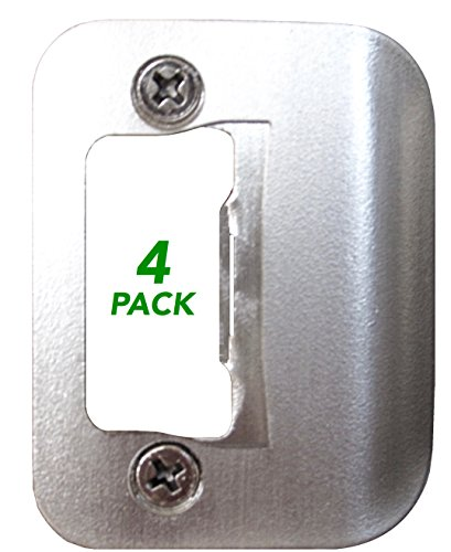 - 4-Pack Gator Door Latch Restorer - Strike Plate (Satin Nickel)