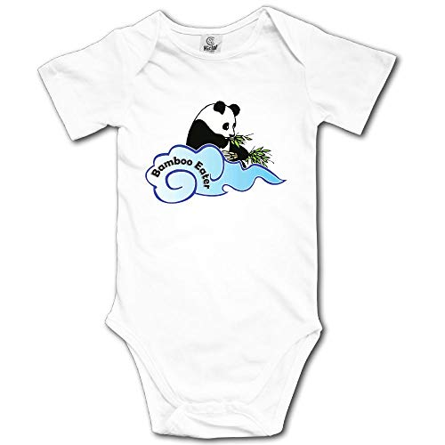 Baby Toddler Climbing Bodysuit The Bamboo Eater Panda Infant Climbing Short-Sleeve Onesie Jumpsuit ()