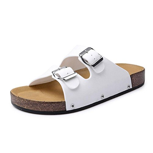 Men Flat Sandals Slippers Shoes Summer Open Toe Leather Casual Beach (US:8.5, - 1/2 8 Sunglasses
