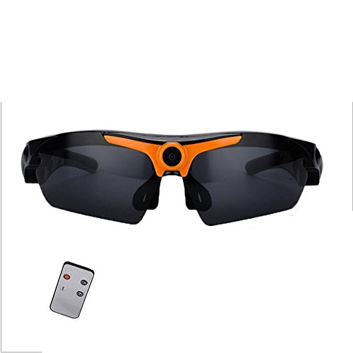 CCLOON Cool Wireless HD 1080P RIding Smart Glasses 120 Degree Wide Angle Remote Control Digital Glasses Sports Camera Sunglasses Headset Headphone for Cycling Outdoor Sports DV - Sunglasses Dv