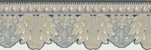 Brewster 418B239 Borders and More Metallic Ironwork Die-Cut Wall Border, 8.5-Inch by 180-Inch (Die Cut Wall Border)