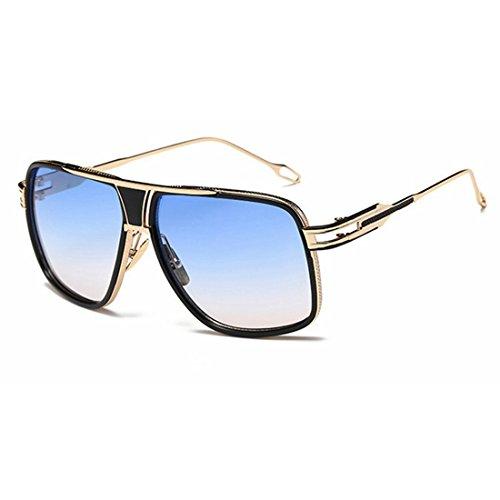 Protection Gold Aviator Femmes UV De Color Blue Lunettes Metal pour 400 Deep Polarized Sakuldes Hommes Soleil Mirror z1nd0qw6