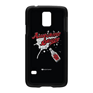 Sassy - Awesome Sauce 10493 Black Hard Plastic Case Snap-On Protective Back Cover for Samsung? Galaxy S5 by Sassy Slang + FREE Crystal Clear Screen Protector