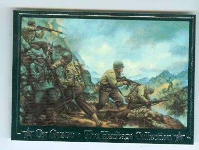 Red Bull Division trading card 1992 On Guard #34 World War Two 1944 Italy by Autograph Warehouse