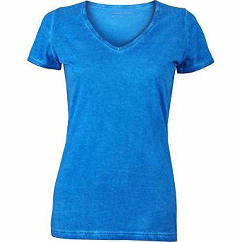 JAMES & NICHOLSON - Camiseta - Básico - Manga corta - para mujer bleu atlantique