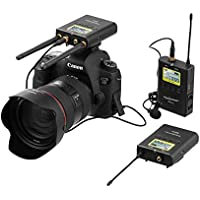 Wireless Lavailer Microphone System,ZhuoSheng WM10 100 Channels with 2 UHF Bodypack Transmitters, Portable Receiver, XLR,3.5mm Outputs, Hot Shoe Mount for camcorder, DSLR Cameras,ENG EFP