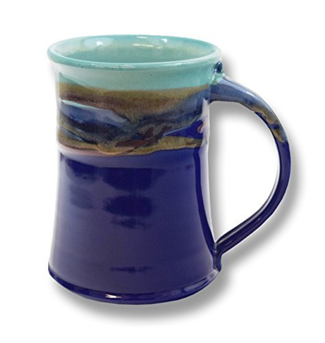 Clay in Motion Handmade Ceramic Large Mug 20oz - Mystic Waters (Mugs Oversized Ceramic Coffee)