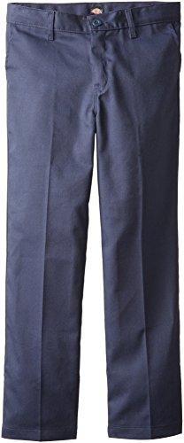 Boys Clothing Husky - Dickies Khaki Big Boys' Flex Waist Stretch Pant, Dark Navy, 14 Husky